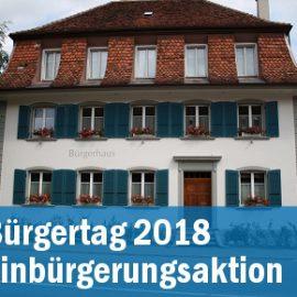 Bürgertag 2018 – Einbürgerungsaktion